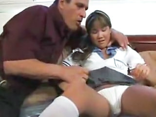 Asian Daddy Interracial Old and Young Panty Teen