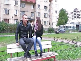 Girlfriend Jeans Outdoor Public Teen