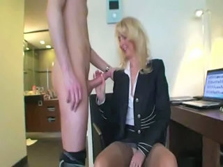 Amateur Big cock Handjob Mature Mom Old and Young