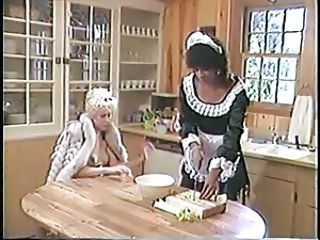 Kitchen Lesbian Maid Pornstar Uniform Vintage