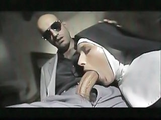 Big cock Blowjob Clothed Nun Uniform Vintage