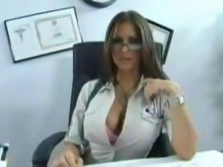 Amazing Big Tits Glasses MILF Office Pornstar Secretary