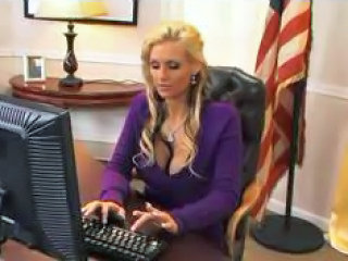 Amazing Big Tits Blonde MILF Office Pornstar Secretary
