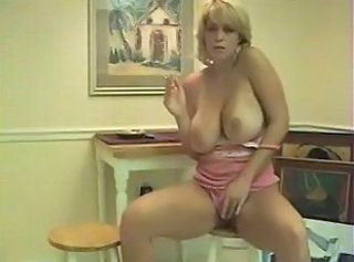 Big Tits Masturbating MILF Natural Smoking Vintage