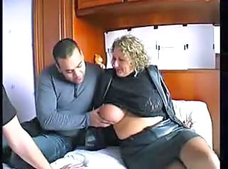 Big Tits French Mature Threesome