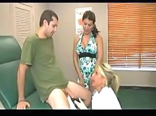 Big Tits Doctor Handjob MILF Mom Old and Young Uniform