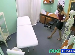 FakeHospital Hot girl with big tits gets doctors treatment before l...