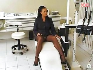 Doctor MILF Stockings Upskirt