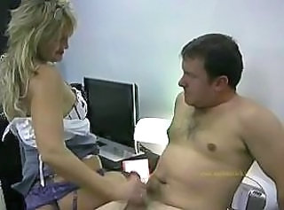 Handjob MILF Office