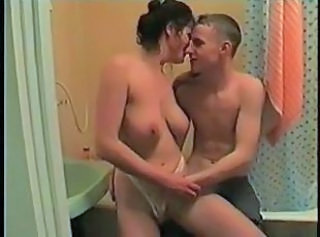 Amateur Bathroom Homemade MILF Mom Old and Young Russian SaggyTits