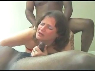 Amateur BBW Hardcore Interracial Mature Threesome