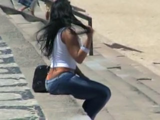 Ass Jeans Latina Outdoor Public