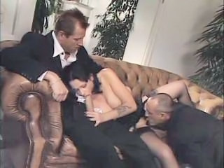 Blowjob European Italian Licking MILF Stockings Threesome