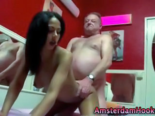 Amateur Daddy Doggystyle Old and Young Teen