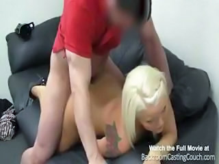 Busty blonde mom in casting s...
