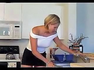 European Kitchen MILF Stockings