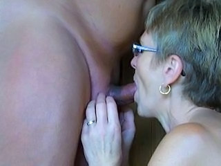 Blowjob Glasses Granny
