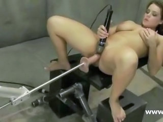Brunette Fetish Machine