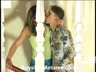 Kissing MILF Russian