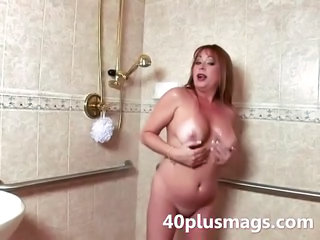 Teasing Mature Shower Scene