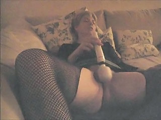 Amateur Homemade Masturbating MILF Orgasm Pantyhose Toy