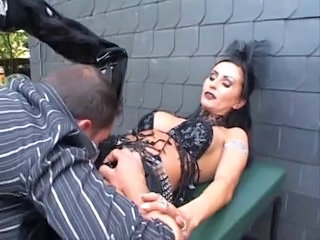 Fetish Latex Licking MILF Outdoor