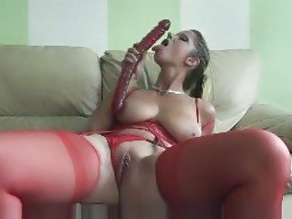 Dildo MILF Pussy SaggyTits Stockings Toy