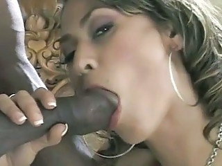 Big cock Blowjob Interracial Latina