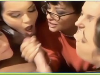Cumshot Glasses Groupsex Handjob MILF Swallow