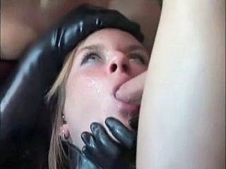 Blowjob Cumshot Latex Slave Swallow
