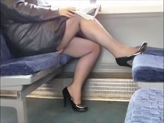 Fishnet Legs Public Stockings Voyeur