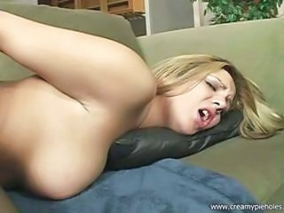 Blonde Slut Takes A Messy Creampie
