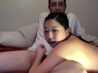 Asian Girlfriend Handjob Small cock Webcam