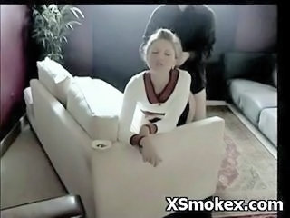 Clothed Doggystyle Smoking Teen