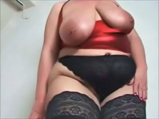Amateur BBW Big Tits MILF Natural Piercing Panty SaggyTits