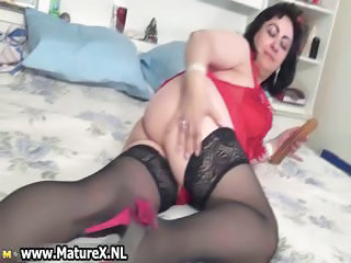 Mature Natural Stockings Wife