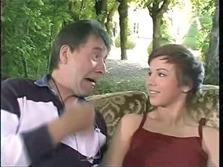Cute Daddy Daughter Old and Young Outdoor Teen