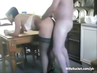 Doggystyle Kitchen Mature Stockings