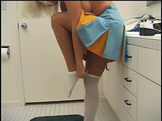 Babe Big cock Cheerleader Uniform