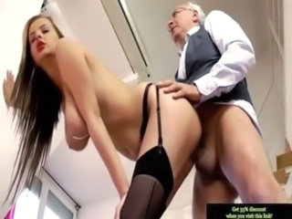 Babe Big Tits Daddy Doggystyle Natural Old and Young SaggyTits Stockings
