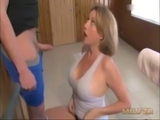 Handjob MILF Mom