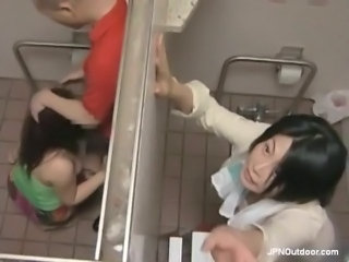 Asian Blowjob Public Toilet