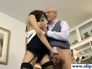 Daddy Handjob Old and Young Teacher