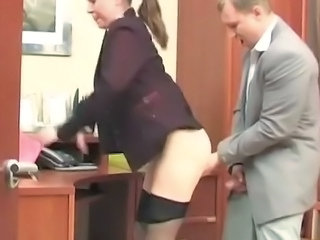 Clothed Office Pantyhose Secretary