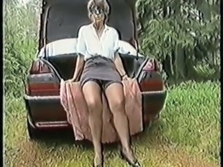 Amateur Car Mature Outdoor Stockings