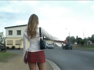 European French Outdoor Public Teen