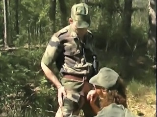 Army Blowjob Clothed Outdoor Uniform