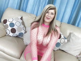 Big Tits British Chubby European Fishnet MILF Natural Toy