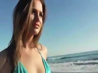 Amazing Beach Bikini Cute Outdoor Teen