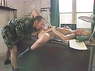 Amazing Army Licking MILF Pornstar